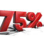 sconto 75 percento