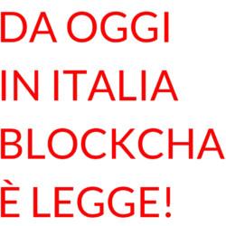 Italia blockchain legge