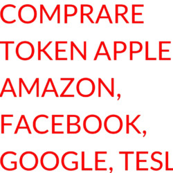 Un exchange per comprare token di Apple Amazon Facebook Google Tesla