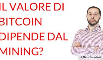 valore bitcoin costo mining