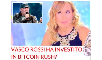 Vasco Rossi Bitcoin Rush Barbara D'Urso Pomeriggio Cinque
