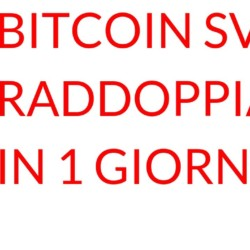 Bitcoin SV raddoppia in 1 GIORNO