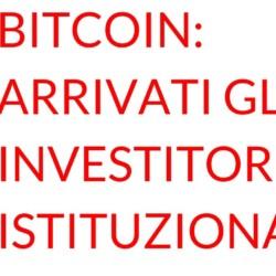 Bitcoin investitori istituzionali