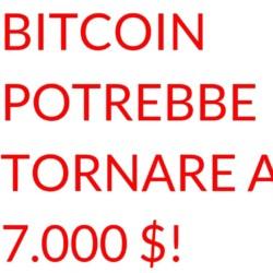 Bitcoin potrebbe tornare a 7000 dollari