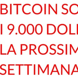 Bitcoin sotto i novemila dollari