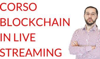 Corso blockchain in live streaming