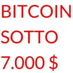 crollo bitcoin 7000 dollari