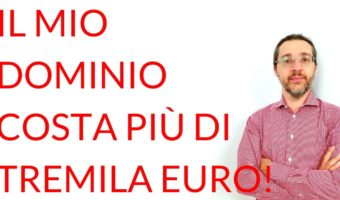 Mio dominio tremila euro