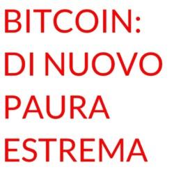 Bitcoin paura estrema