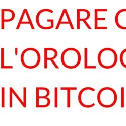 Pagamento orologio bitcoin