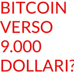 Bitcoin verso novemila dollari