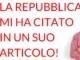 La Repubblica mi ha citato