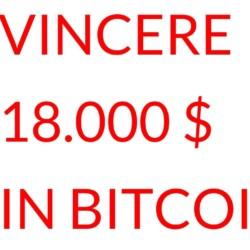 vincere DICIOTTOMILA dollari in bitcoin