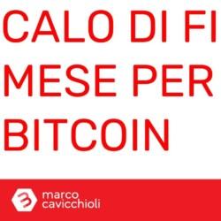 Bitcoin calo di fine mese