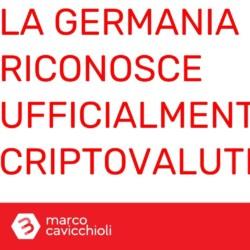 Germania riconosce ufficialmente le criptovalute