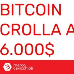crollo Bitcoin 6.000 dollari