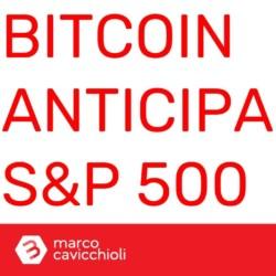Bitcoin anticipa la borsa americana