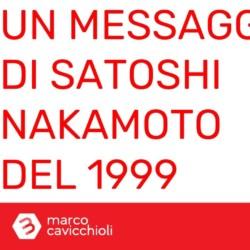 Satoshi Nakamoto 1999