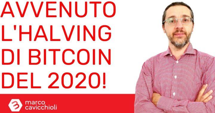 halving Bitcoin 2020 avvenuto