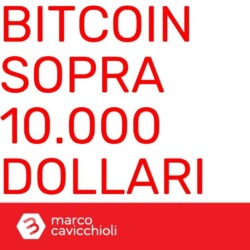 Bitcoin sopra diecimila dollari
