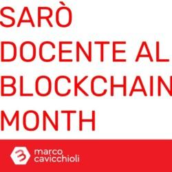 docente Blockchain Month Milano