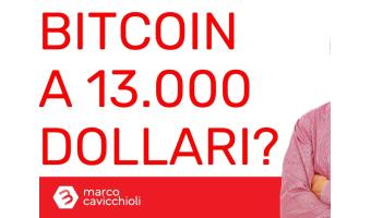 Bitcoin 13000 dollari