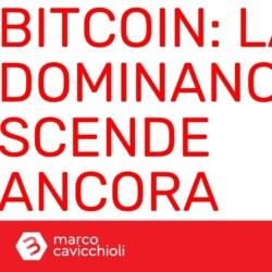Bitcoin dominance scende