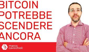 Bitcoin correzione prezzo potrebbe scendere ancora