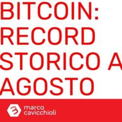 Bitcoin record prezzo minimo mensile