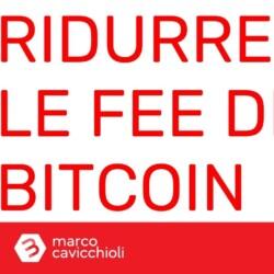 bitcoin fee commissioni costi transazioni