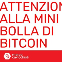 Bitcoin mini bolla fine 2020