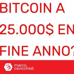 Prezzo di Bitcoin a 25000 dollari