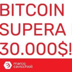 Bitcoin TRENTAMILA dollari