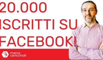 ventimila iscritti gruppo facebook