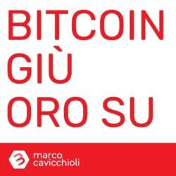 Bitcoin giu oro su