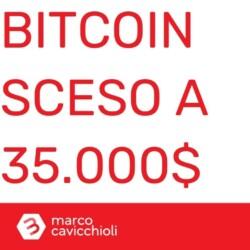 Bitcoin quotazione scesa a 35000 dollari