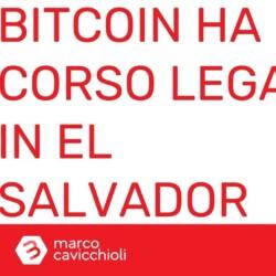 el salvador bitcoin moneta legale ufficiale