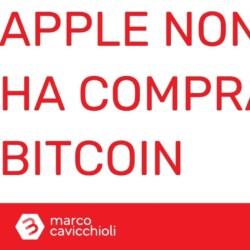 apple non ha comprato bitcoin